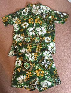 Vintage Hawaiian Shirt, Shorts, Cabana Set, Jantzen, circa 1960s, very Mad Men   £32.03 (10B)