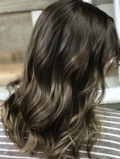 Ash brown color melt by Janelle at Lush Hair Salon