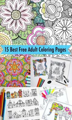 Are you looking for the best free adult coloring pages?  This truly is one of the most relaxing activities I have done in a while.  Hope you will check it out.    I am going to make a special coloring book for my mom for Mother's Day - Enjoy!