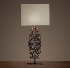 Parisian Iron Gate Table Lamp