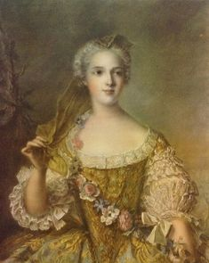 Jean-Marc Nattier ~ Madame Sophie de France Portrait Collotype Fine Art Print   Unique old collotype classicism print,  printed 50-100 years ago in the collotype process on heavy paper. Once revered as the finest of printing processes, the craft has slipped into obscurity due to the expense of the process. Printed by Arthur Jaffe, New York  Image Size   19 3/4 x 16