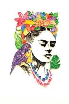 Frida kahlo papel