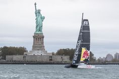 Jimmy Spithill and @redbull Team Falcon battled Mother Nature as they were on an epic adventure to fly on water from NY to Bermuda.