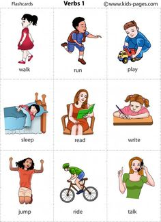 Kids Pages - Verbs 1