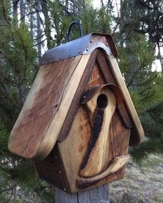 Unique Birdhouse Handmade Barnwood Recycled by CampbellWoodworks
