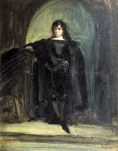 Self Portrait as Hamlet - Eugene Delacroix - Completion Date:1821