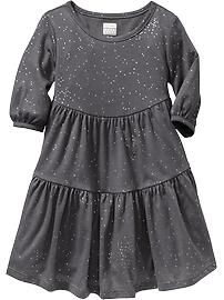 Tiered Jersey Dresses for Baby