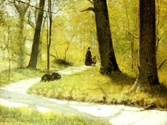 Eugene Jansson (1862-1915): Djurgarden, 1887  Nice walk in Stockhom 2013