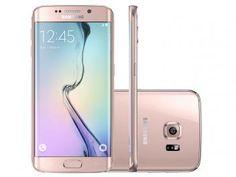 "Smartphone Samsung Galaxy S6 Edge 4G - Câm. 16MP Tela 5.1"" Android Proc. Octa-Core"