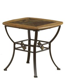 Hillsdale Lakeview Square Slat Top End Table in Brown and Medium Oak Furniture Deals, Table Furniture, Cool Furniture, Living Room Furniture, Modern Furniture, Living Room End Tables, Wood End Tables, Sofa Tables, Table For Small Space
