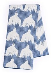 House of Rym Birdie Nam Nam Blue Baby Blankets designed by Cecilia Pettersson now at Northlight