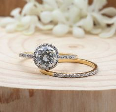 Moissanite Wedding Ring Set, Yellow Gold Round Half Eternity Diamond Band, Engagement Ring S Moissanite Diamond Rings, Moissanite Wedding Rings, Eternity Ring Diamond, Diamond Bands, Bridal Ring Sets, Bridal Rings, Rose Gold Engagement Ring, Engagement Ring Settings, Best Diamond