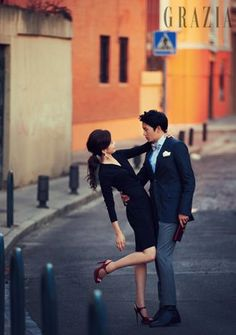 Ji Sung – Lee Bo Young's Wedding Pictorial Wedding Photography Poses, Wedding Poses, Couple Photography, Wedding Hair, Korean Celebrity Couples, Korean Celebrities, Celebs, Korean Couple Photoshoot, Pre Wedding Photoshoot