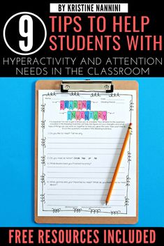 9 Tips to Help Students with ADHD, Hyperactivity, and other Attention Needs in the Classroom - Young Teacher Love 5th Grade Classroom, Middle School Classroom, Classroom Behavior, Classroom Management, High School, Special Education Teacher, Teacher Blogs, Classroom Solutions, Nonfiction Text Features