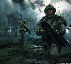 Concept Designer and Illustrator Yap Kun Rong has posted some of the concept artwork he created for Halo Wars Yap has also worked on video game titles such as Metal Gear Rising, The Wonderful 101 and Bayonetta Link: Website All images © 343 Industries Star Citizen, Guardia Imperial 40k, Halo Armor, Halo Series, Halo Game, Starship Troopers, Concept Art World, Future Soldier, Futuristic Art