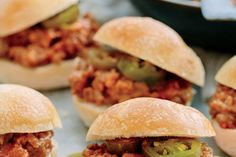 Slow-Cooker Sloppy Joes - Fall Slow-Cooker Recipes - Southernliving. Recipe: Slow-Cooker Sloppy Joes  With prep times of 15 minutes or less, Slow-Cooker Sloppy Joes, Easy Coleslaw, and Chive 'n' Onion Potato Chips make a winning menu.