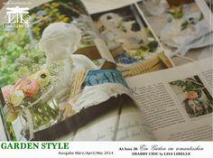 """Zeitschrift Garden Style """"Ein Garten im romantischen SHABBY CHIC"""" by LISA LIBELLE"""