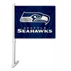 seahawks car flag