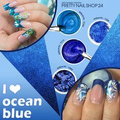 #trend #denim #nails #naildesign Passt super zum Denim-Style und erinnert uns an Sommer & Meer! Eure Martina