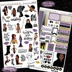 Glamalicious! Planner Layout Stickers by StickerSters on Etsy https://www.etsy.com/listing/494256337/glamalicious-planner-layout-stickers