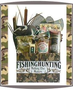 Gifts For Your Beloved: DIY gift basket idea: hunting or fishin gear for male coworker, groomsmen, boyfriend or husband!
