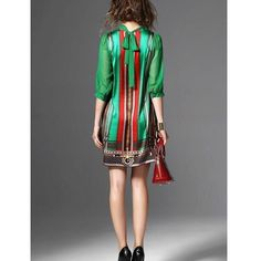 """Elegant Vintage Pattern Green Print Dress"" First Date Dress, Unique Dresses, Amazing Dresses, Green Print, Cover Up, Elegant, Sleeves, Pattern, Clothes"