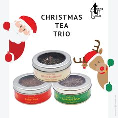 Chistmas Tea Trio by The Tea Republic - etsy.me/1TV6VU8 #christmas #tea #gifts