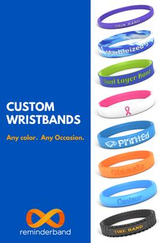Custom Wristbands for just about occasion. Great for groups or as a personal reminder. Create yours today! Employee Appreciation, Teacher Appreciation Gifts, Teacher Gifts, Silicone Bracelets, Beginning Of School, Girls Camp, Girl Scouts, Diy Gifts, Crafts For Kids