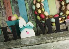 Interchangeable Home Letters bunny | Easter bunny insert for the Home Letters Series....check out all the other adorable shapes!