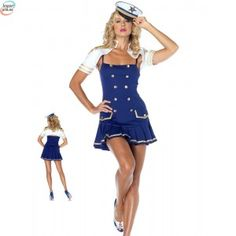 Sexy Ship Shape Captain Adult Navy Costume Military Costume at Wholesale Prices Sailor Fancy Dress, Sexy Lingerie, Lingerie Underwear, Navy Costume, Dance Costume, Costume Marine, Leg Avenue Costumes, Captain Costume, Captain Hat