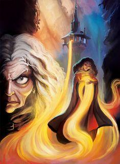 Disney Villains Cover Art, Phil Dragash