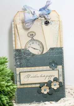 Great idea---love the idea of making a tag with a little pocket on the front