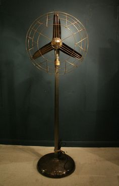 If I had this vintage standing fan I wouldn't mind having one. It wouldn't be an eyesore, but cool home decor. (via Art Deco Art Nouveau) Design Industrial, Industrial Flooring, Industrial Fan, Industrial Furniture, Decoration Inspiration, Inspiration Art, Art Nouveau, Home Design, Interior Design