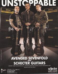 Guitar World, octubre 2013 (avenged sevenfold a7x synyster gates zacky vengeance)