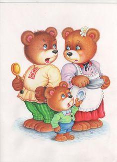 "Тематическое занятие по сказке ""Три медведя"" Art For Kids, Crafts For Kids, Panda, Story Sack, Goldilocks And The Three Bears, Cute Mouse, Children Images, Nursery Rhymes, Storytelling"