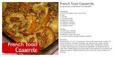 French Toast Casserole - My most asked for recipe!  For more great recipes and ideas, visit At Home with Terri at www.facebook.com/AtHomewithTerri