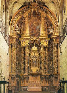 Retablo de José de Churriguera del la Iglesia de San Esteban de Salamanca. Barroco español.s. XVII.