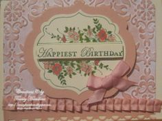 STAMPIN' UP! APOTHECARY ART, LOVING THOUGHTS & MARKER COLOURING
