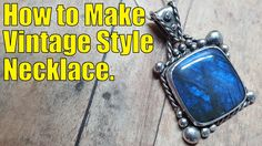 How to make beautiful vintage style silver jewelry. In this video I will show you how to made this vintage styled silver necklace. I will be using a square labradorite cabochon to make this piece but you can really use any stone you like. Stamped Jewelry, Metal Jewelry, Jewelry Rings, Jewelry Ideas, Diy Jewelry, Jewelry Making, Jewelry Logo, Jewelry Tools, Bracelet Making