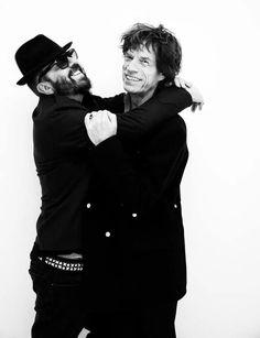 Ringo Star + Mick Jagger