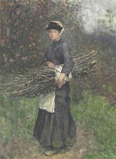 Gathering Firewood 1881 ~ George Clausen ~  (English 1852 – 1944 )
