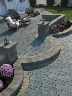 Stone Patio Designs Ideas 2019 awesome stone patio designs perfect for your home! The post Stone Patio Designs Ideas 2019 appeared first on Backyard Diy. Stone Patio Designs, Paver Designs, Backyard Patio Designs, Backyard Landscaping, Patio Ideas, Pavers Ideas, Landscaping Ideas, Paved Backyard Ideas, Garden Ideas