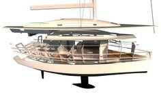 YACHT 11.90 (ita)  ITA - Imbarcazione da crociera-regata lunga 1190 cm e larga 318. Ha un pescaggio di 195 cm. È costruita con fogli di compensato marino da 10 e 20 mm, resina epossidica e fibra di carbonio per i rinforzi strutturali e discloca 4677...