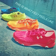 4 colors. 1 shoe. UA Run's latest running innovation: Speedform. Shop UA.com now, and experience what fast feels like!