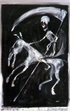 la muerte. Painting of the Serie Surrealism for sale by artist Diego Manuel
