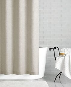 Hotel Collection Linen 72 x 84 Extra Long Shower Curtain, Only at Macy's - Shower Curtains & Accessories - Bed & Bath - Macy's
