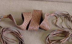 Brown Braided Leather Boho Belt Fringed by vintachi on Etsy, $15.99