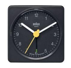 Amazon.com: Braun BNC002BKBK Classic Analog Quartz Alarm Clock: Braun: Watches