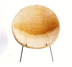 Mid Century Modern Rattan Hoop Chair by by LuckySevenVintage, $175.00 #vintage #luckysevenvintage #midcenturymodern