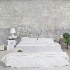 Vliestapete Fototapete Tapete Vlies Beton Shabby Betonoptik Wandtapete Wand grau - Home decor - Ideen Loft Style Bedroom, Industrial Style Bedroom, Style Loft, Look Wallpaper, Wall Wallpaper, Photo Wallpaper, Bedroom Wallpaper, Wallpaper Wallpapers, Bedroom Themes